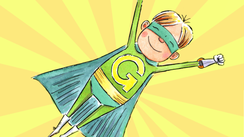 Captain Green, the Caped Captain of Clean!