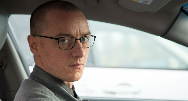 James McAvoy plays Kevin in Split, the latest film from M. Night Shyamalan. We hear this one has a surprise ending. Images: Universal