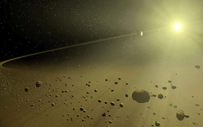 Uno de los exoplanetas con anillos descubierto por Kepler. Ilustración: NASA / JPL