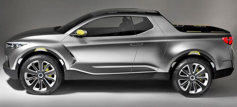 Illustration for article titled Hyundai CEO Says The Santa Cruz Truck Is Coming Soon And That's Great