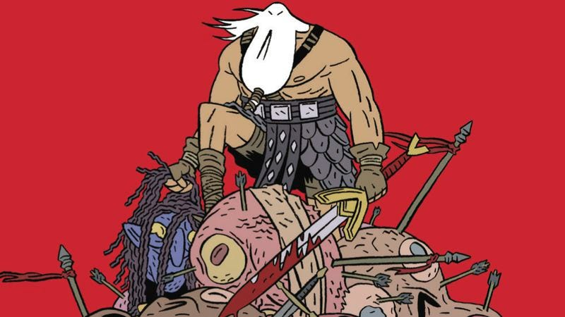 Illustration for article titled Action, atmosphere, and humor make Head Lopper an exciting read