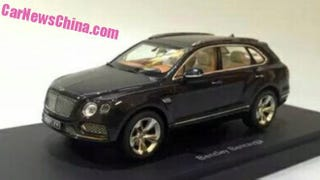 Illustration for article titled Here's TheBentley Bentayga SUV In All Its 1:18 Glory Leaked From China