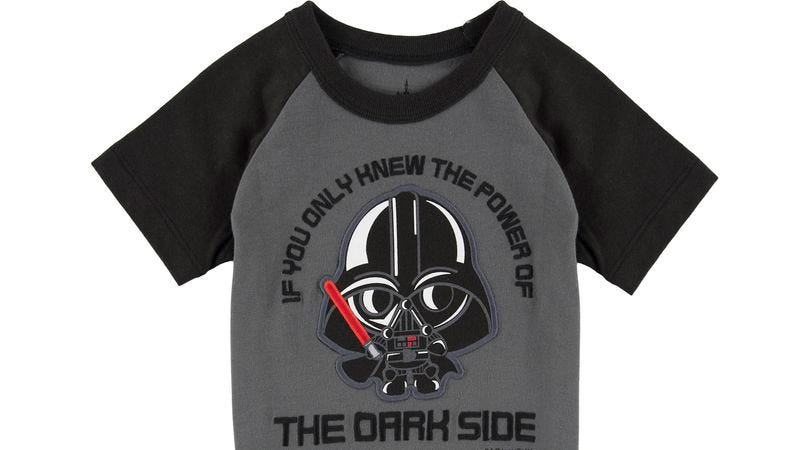 Illustration for article titled Of course this Darth Vader onesie presents a choking hazard
