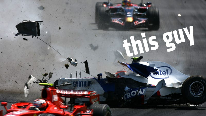 Kubica's famous crash at Canada 2007.