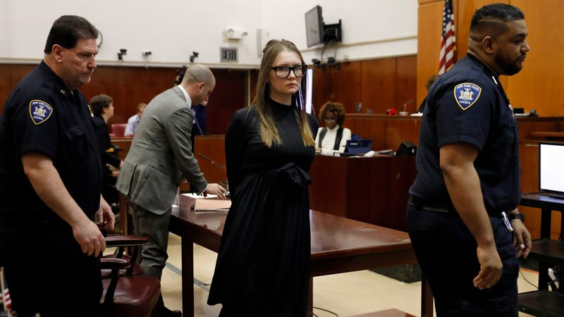 Anna Sorokin leaves after sentencing at New York State Supreme Court, in New York, Thursday, May 9, 2019.