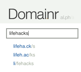 Illustration for article titled Domainr Suggests Non-Dot-Com Web Site URLs
