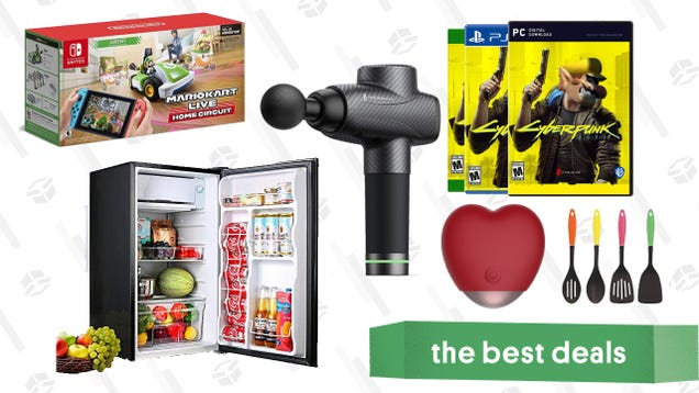 Monday s Best Deals: TaoTronics Massage Gun, Mario Kart Live, Tacklife Mini Fridge, Better Love V-Day Massager, Cyberpunk 2077, Cuisinart Kitchen Tools, and More