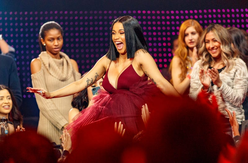 Cardi B attends the 2018 iHeartRadio Music Awards which broadcasted live on TBS, TNT, and truTV at The Forum on March 11, 2018 in Inglewood, California.