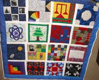 Illustration for article titled How to Make Your Baby a Genius: The Science Quilt