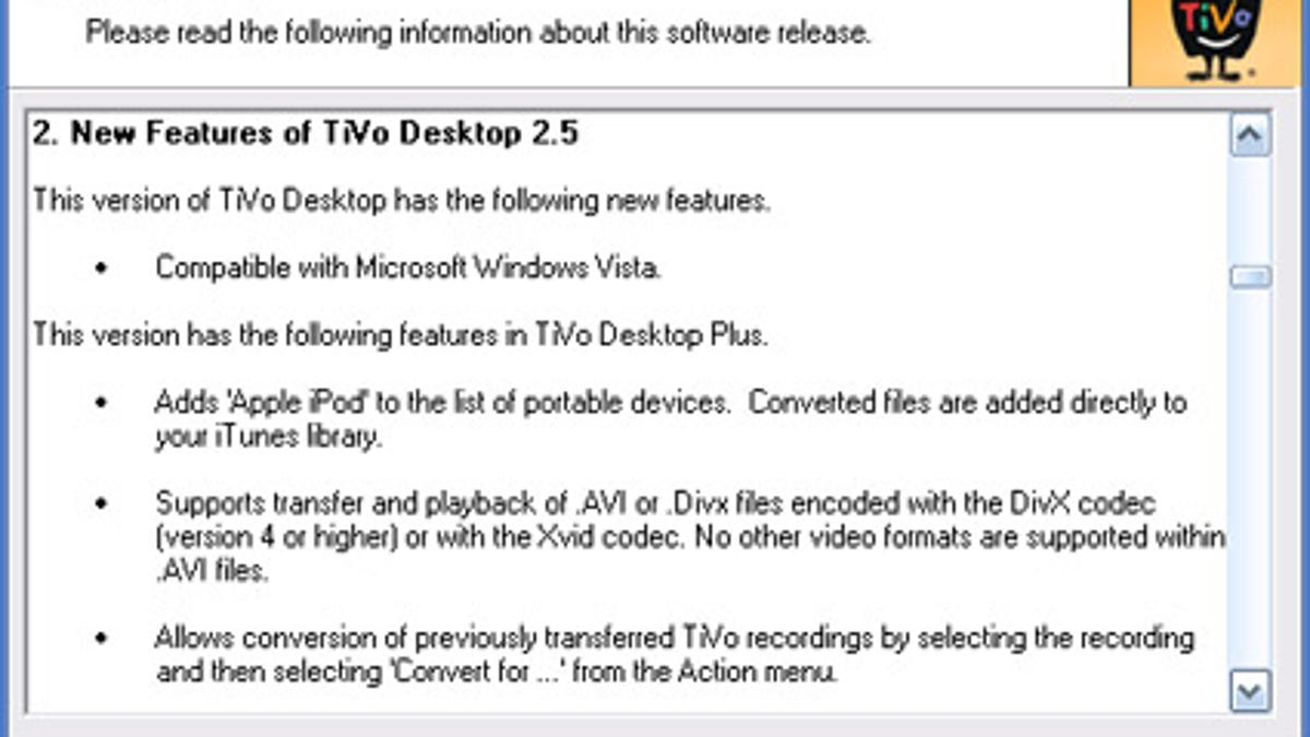 TiVo Desktop 2.5 Arrives