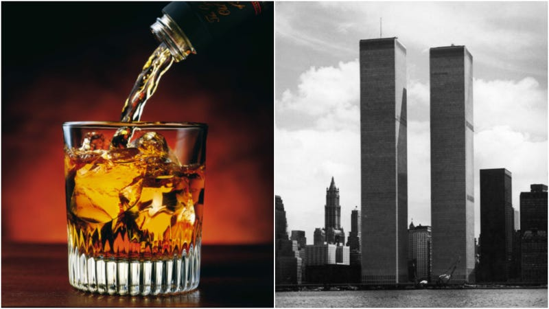 Illustration for article titled Distillery sells bourbon in glass bottles molded from World Trade Center steel
