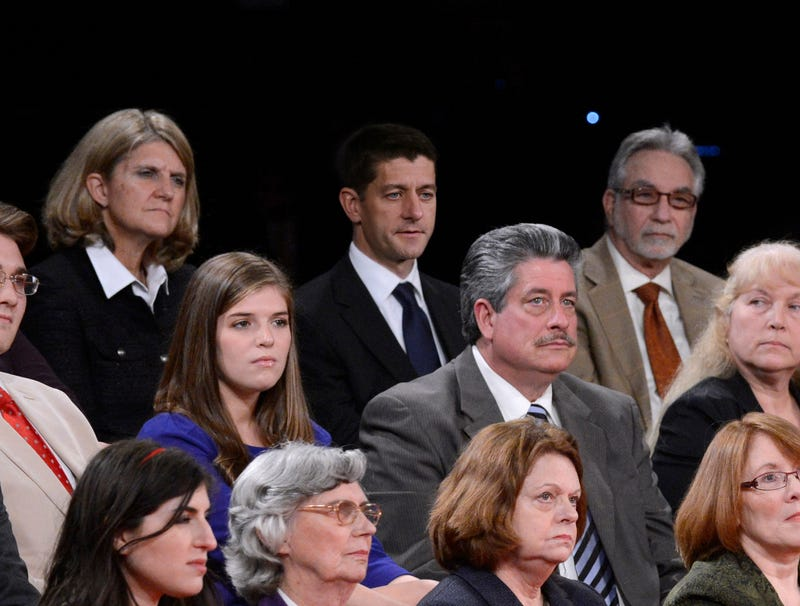Illustration for article titled Paul Ryan Sitting Among Undecided Voters At Town Hall Debate