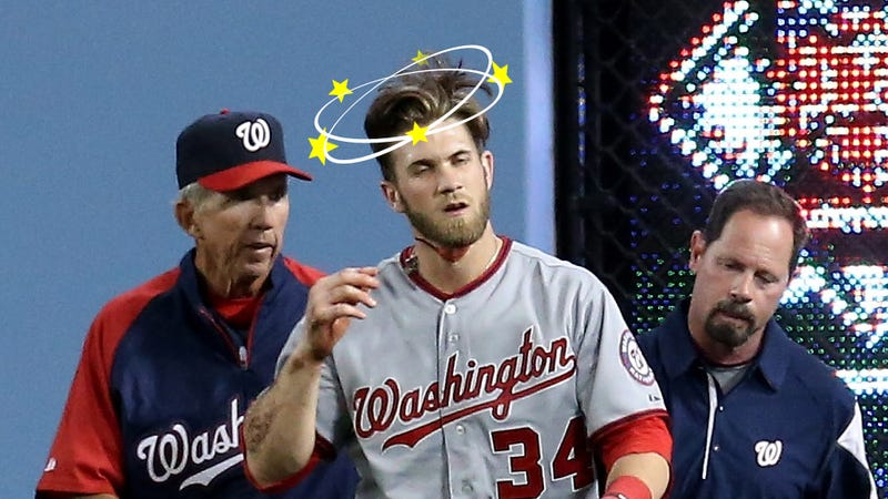 Illustration for article titled The Nats Are Still Pretending Bryce Harper Doesn't Have A Concussion