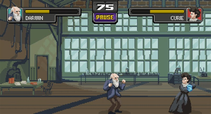 The World's Greatest Scientists Kick Each Other's Ass In This 2D Fighting Game