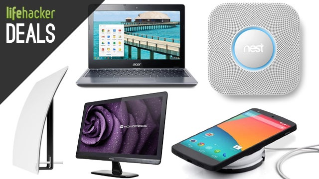Nest Protect Two-Pack, Qi Charger, Monoprice IPS, Chromebook
