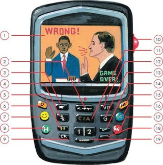 Illustration for article titled Obama's New Blackberry, According to the New Yorker