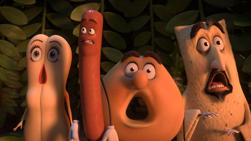A still from Sausage Party, a film not for general audiences. Image: Sony