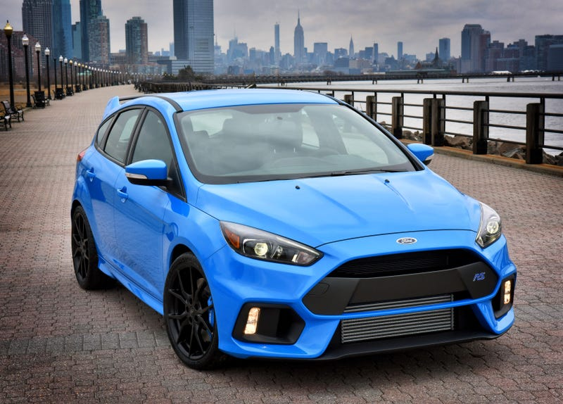 Ford Focus RS, one of the Euro-Galapagosized hot hatches. Ford didn't even want to make a sedan version.
