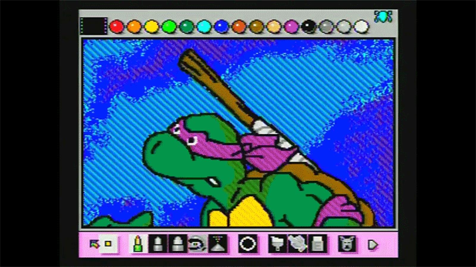 It Took Four Months to Recreate the TMNT Cartoon's Intro Using Super Nintendo's Mario Paint