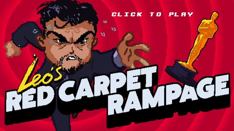 Illustration for article titled Help Leonardo DiCaprio finally win an Oscar in Red Carpet Rampage