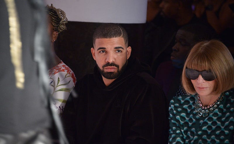 Drake and Anna Wintour attend the Serena Williams Signature Statement by HSN show during Spring 2016 Style360 on Sept. 15, 2015, in New York City.
