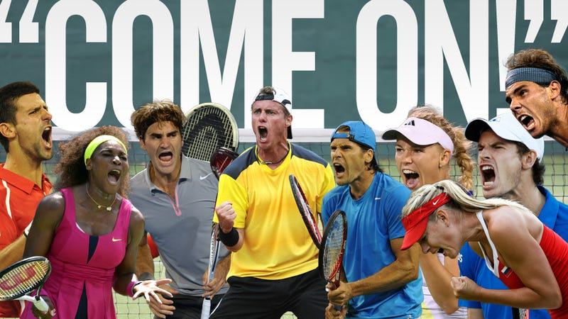 "Illustration for article titled Why Do Tennis Players Say ""Come On!"" So Much?"