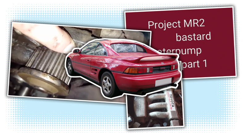 Illustration for article titled These Videos Of An Unassuming Amateur Mechanic Working On His MR2 Are Oddly Soothing