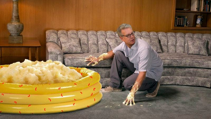 Illustration for article titled Marc Summers Realizes Police Will Immediately Look For Body In Giant Pile Of Mashed Potatoes