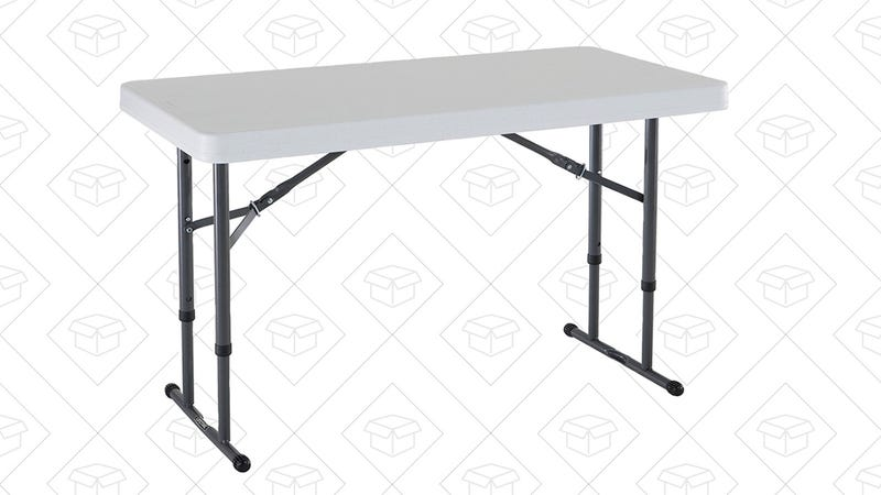 Lifetime 80160 Commercial Height Adjustable Folding Utility Table | $36 | Amazon