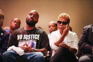 Michael Brown Sr. and Lesley McSpadden, the parents of slain teenager Michael Brown (Scott Olson/Getty Images)