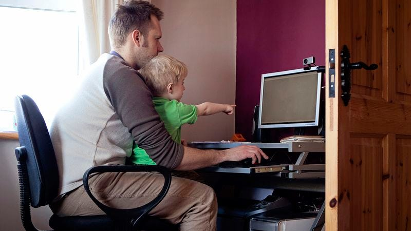 Illustration for article titled Advertising Manager Working Hard To Teach Son Value Of An Impression