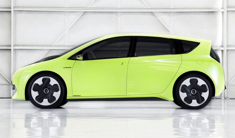 """Illustration for article titled Toyota Unveils New Hybrid Car For """"The 8-Bit Generation"""""""