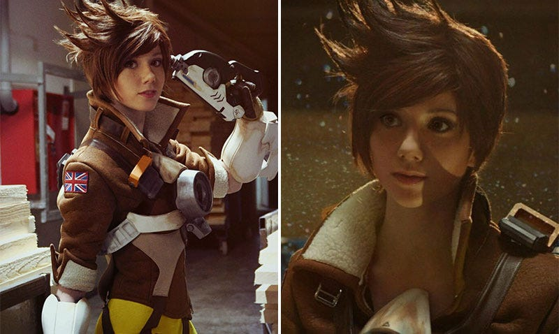 Illustration for article titled Tracer Cosplay Is Almost Perfect
