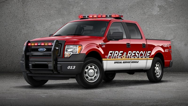 Illustration for article titled The Ford F-150 SSV Can Handle Bad Guys And Fires