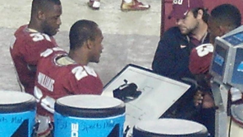Illustration for article titled Florida State Defensive Backs Play Hangman On The Sideline