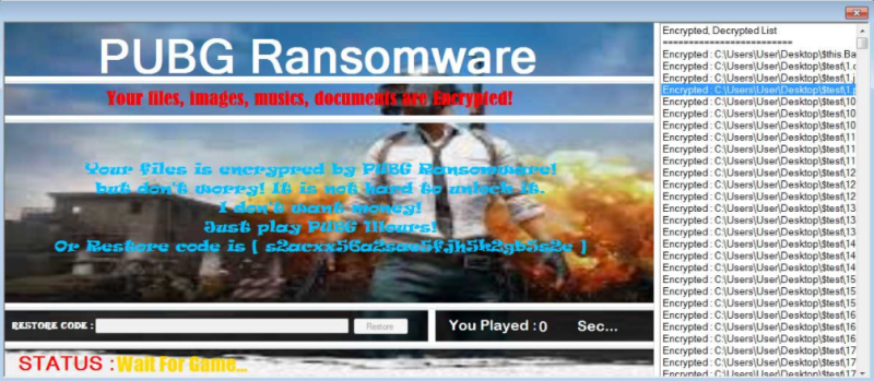 PUBG Ransomeware