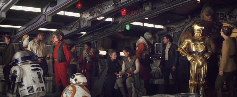 Lo que queda de la Resistencia al final de El último Jedi.
