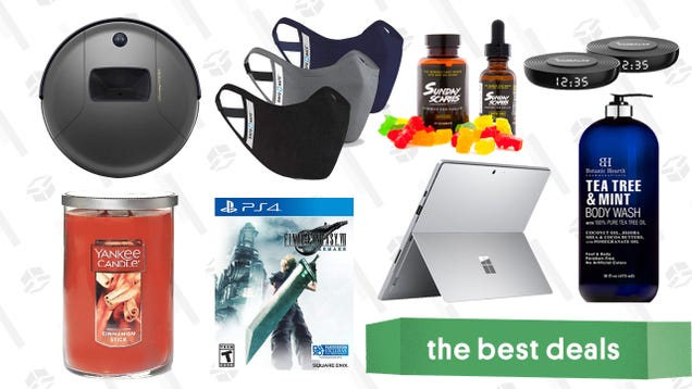 Thursday s Best Deals: Surface Pro 7, Final Fantasy VII Remake, Yankee Candles, Botanic Hearth Shower Products, Sunday Scaries CBD Edibles, and More