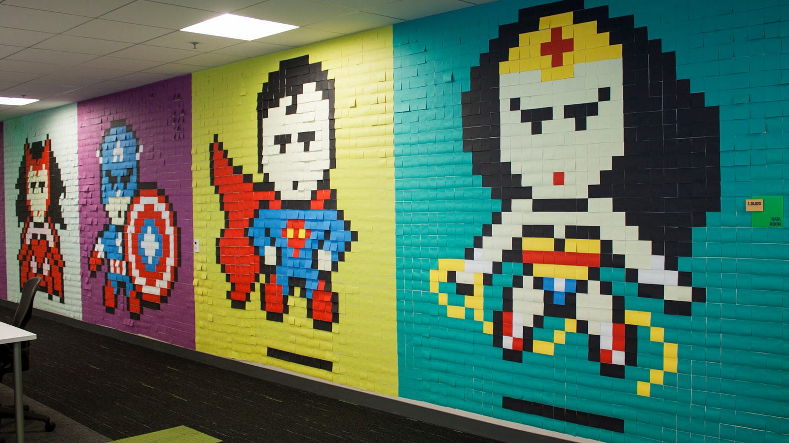 This Guy S Office Post It Murals Put The Rest Of Us To Shame