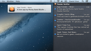 Illustration for article titled Reader Notifier Turns OS X's Notification Center into a Feed Reader