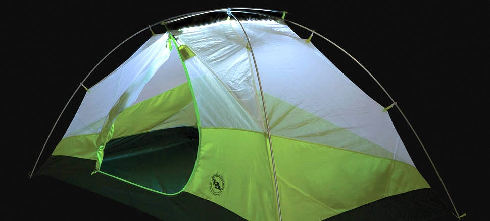 & A Tent With Built-In LED Lighting Eliminates Midnight Flashlight Hunts