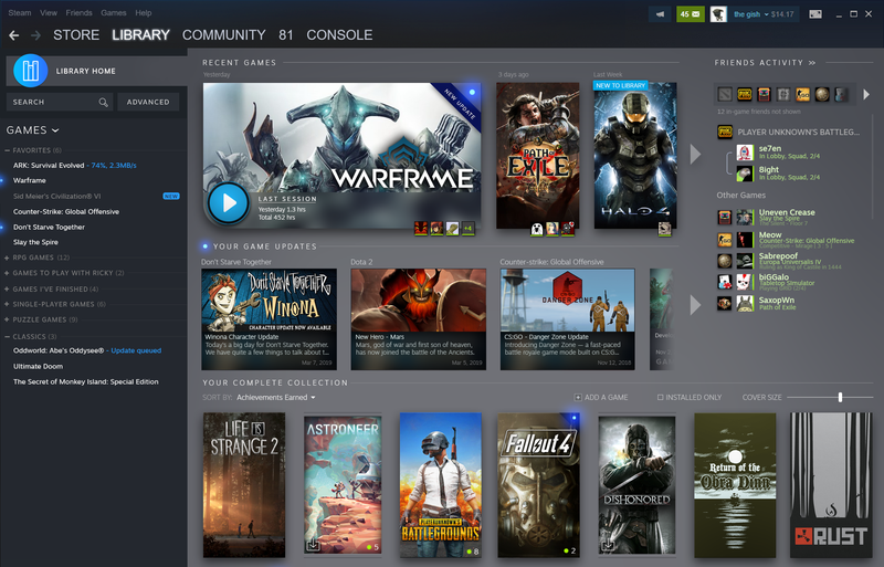 Illustration for article titled Steam Libraries Are Getting An Overhaul