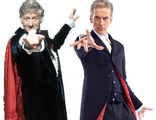 Illustration for article titled Is Peter Capaldi's new costume a callback to a classic Doctor Who?