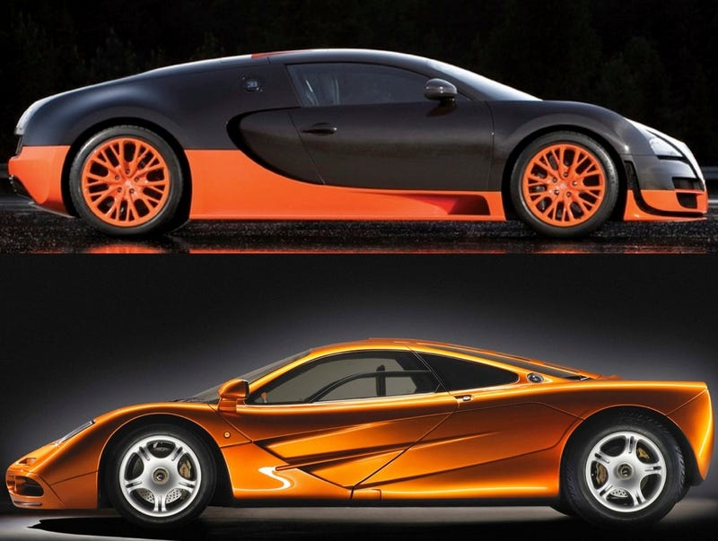 hypercar fight bugatti veyron vs mclaren f1. Black Bedroom Furniture Sets. Home Design Ideas