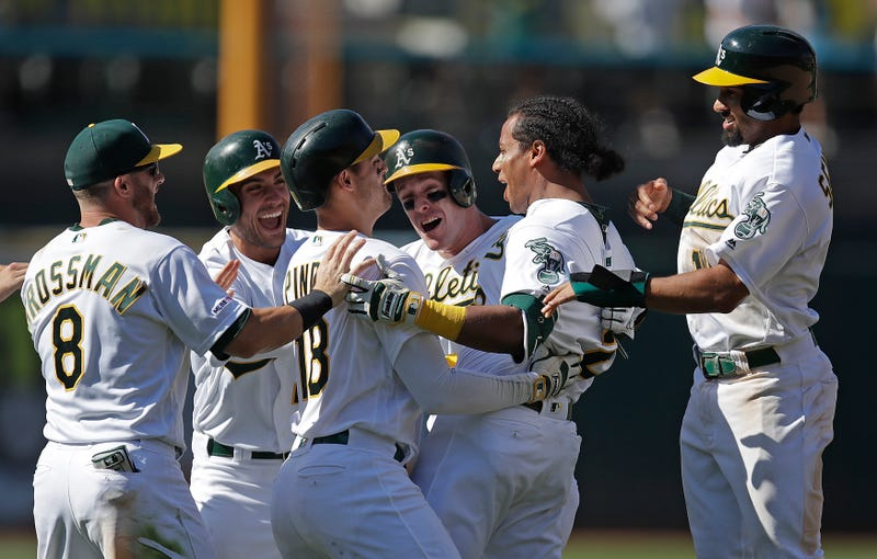 Illustration for article titled After Walk-Off Walk, Khris Davis Predicts Playoffs For The A's