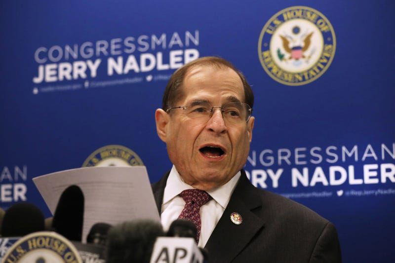 House Judiciary Committee Chairman Jerrold Nadler (D-NY) holds a news conference on April 18, 2019 in New York City. Prior to the Justice Department's release of Mueller's report, Nadler requested Special Counsel Robert Mueller appear before his committee no later than May 23. Politicians, journalists and citizens alike are reading the highly anticipated report for the first time on Thursday.
