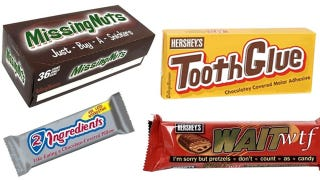 Illustration for article titled What If Candy Bars Were Named For What They Really Are?