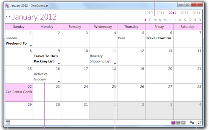 onenote 2010 project management templates
