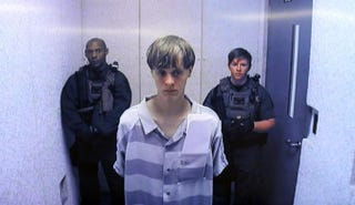 Dylann Roof appears at Centralized Bond Hearing Court June 19, 2015, in North Charleston, S.C. Roof is charged with nine counts of murder and firearms charges in the shooting deaths of nine people at Emanuel African Methodist Episcopal Church in Charleston, S.C., on June 17, 2015.Grace Beahm-Pool/Getty Images