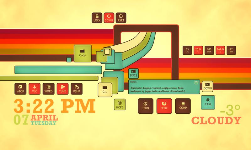 Illustration for article titled The Retro Enigma Desktop